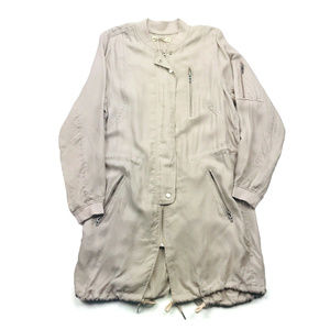 Blank NYC Long Trench Coat In Dusty Rose Womens